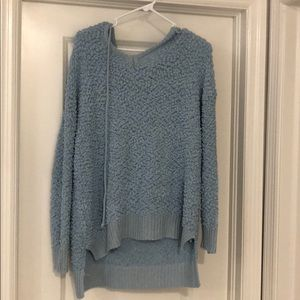 Sweaters - Popcorn baby blue pullover sweater